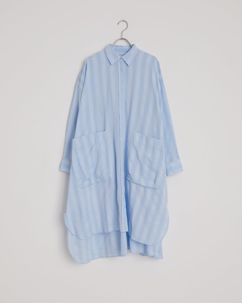 Friendship Shirt Dress in Blue