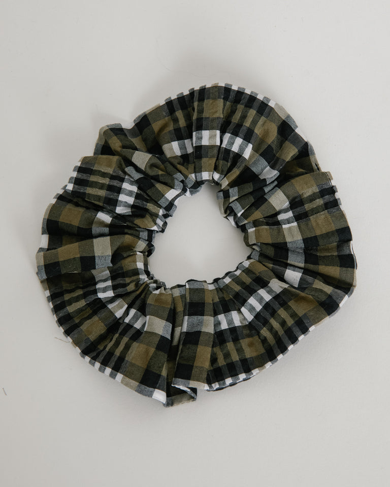 Seersucker Scrunchie in Kalamata