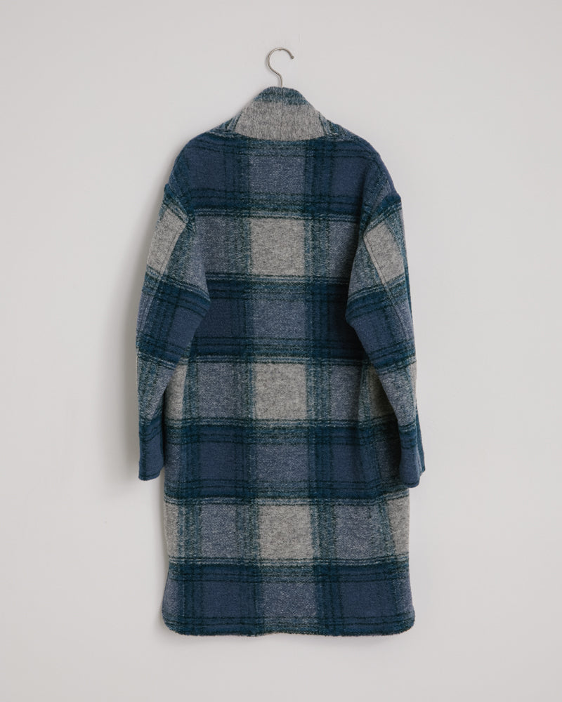 Gabriel Coat in Greyish Blue