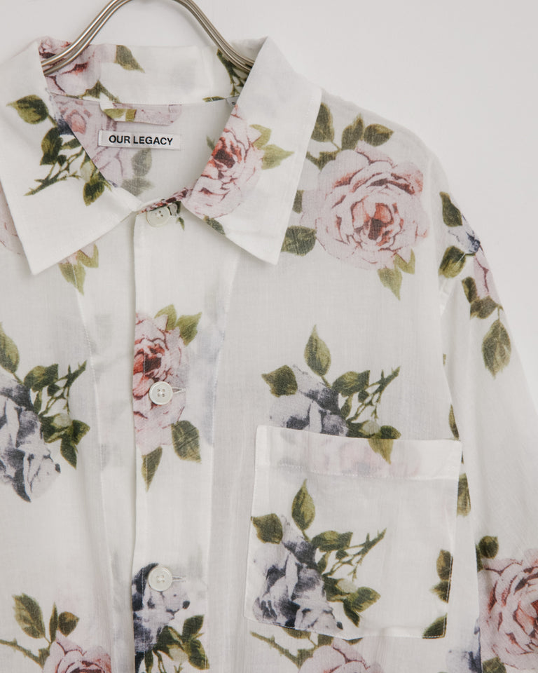 Box Shirt in Rose Print