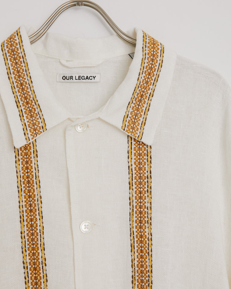 Elder SS Shirt in White Rough Sack