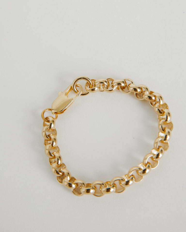 Rolo Bracelet in Brass