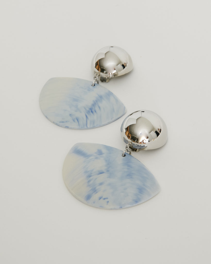 Susa Earrings in Periwinkle/Silver