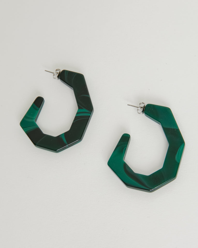 Baby Factor Earring in Malachite