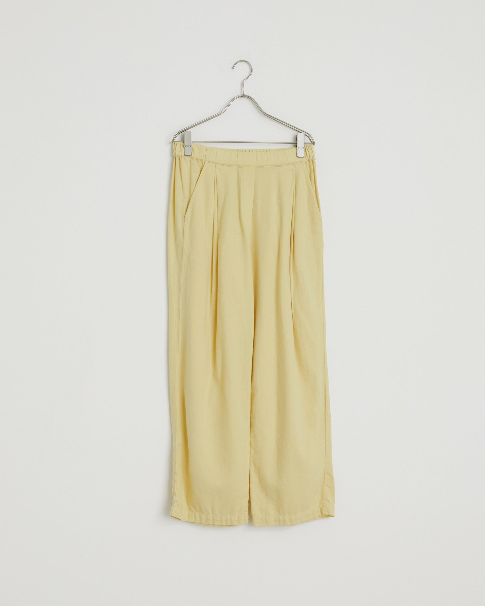 Pleated Pants in Custard