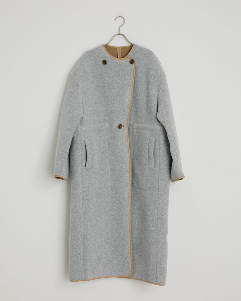 Tencha Coat in Grey Melange