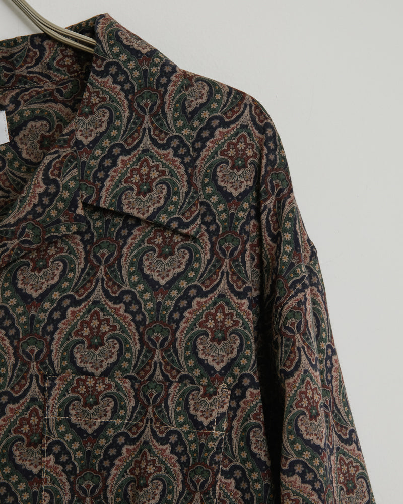 Seville Shirt in Burgundy Paisley