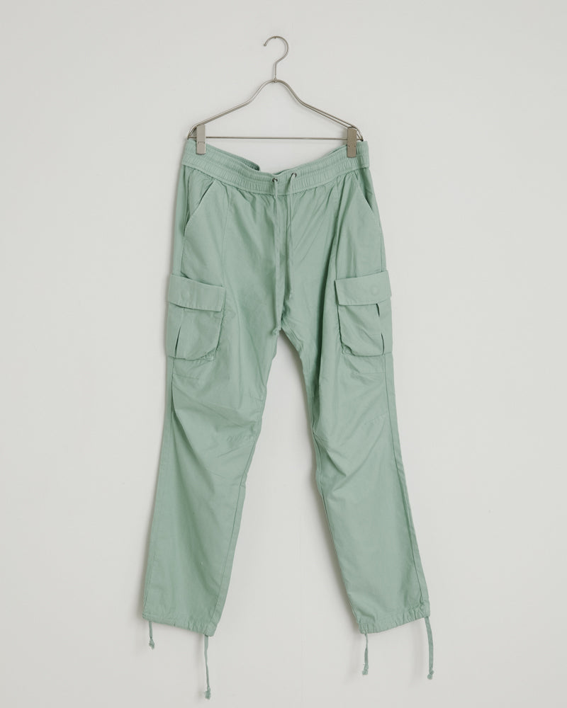 Back Sateen Cargo Pants in Seafoam