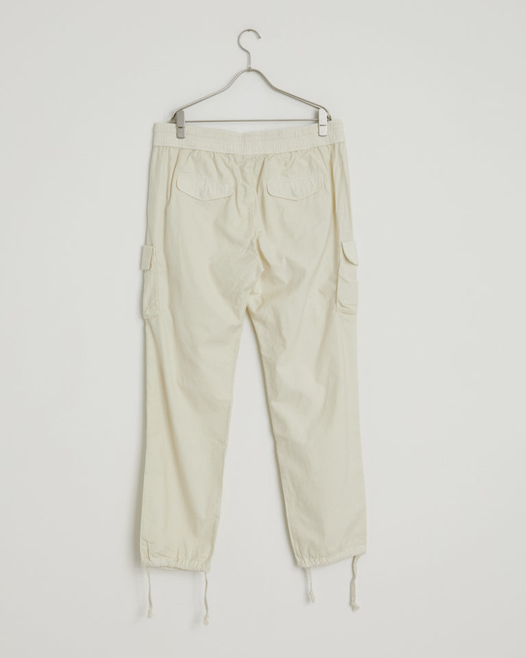 Back Sateen Cargo Pants in Eggshell