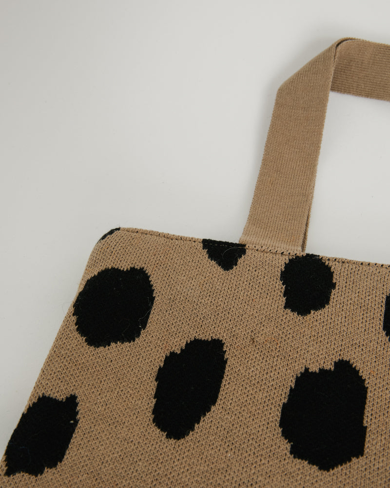 Spotted Tote Bag in Beige