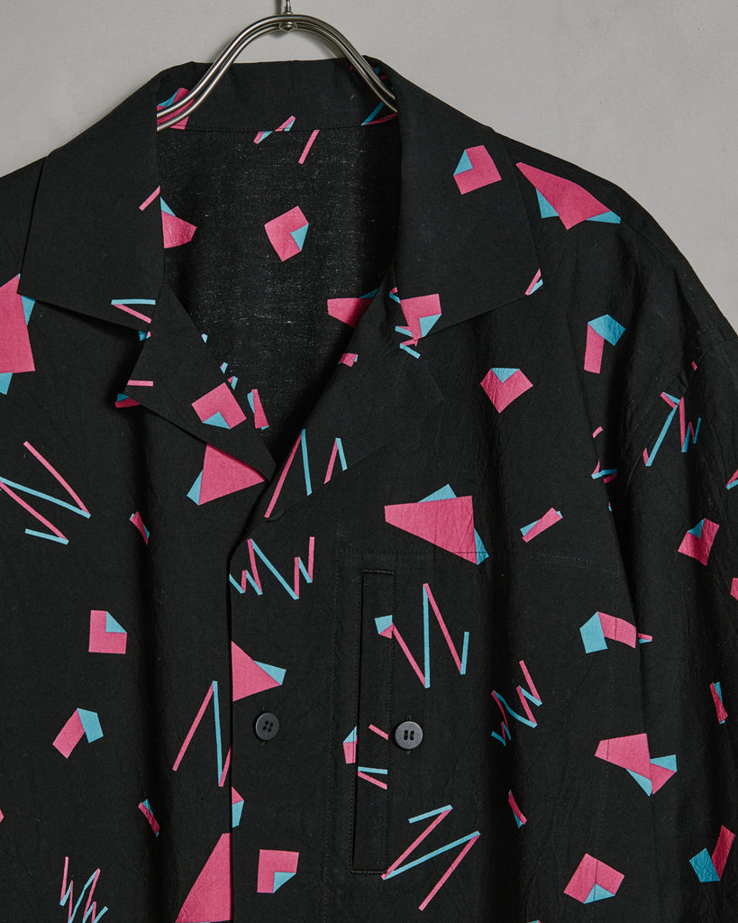 Geometric Shirt in Black