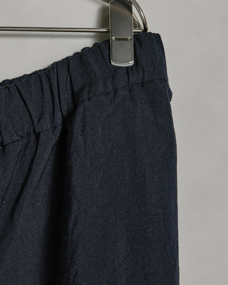 Zwag March Pant Wool/lin in Navy