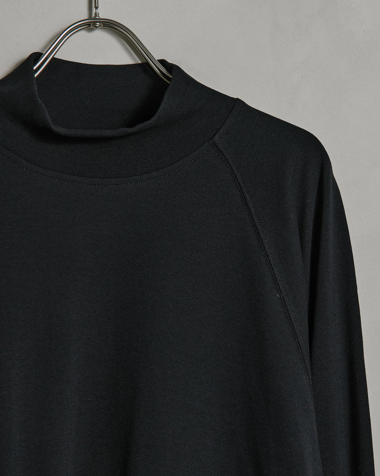 Crepe Mockneck in Black