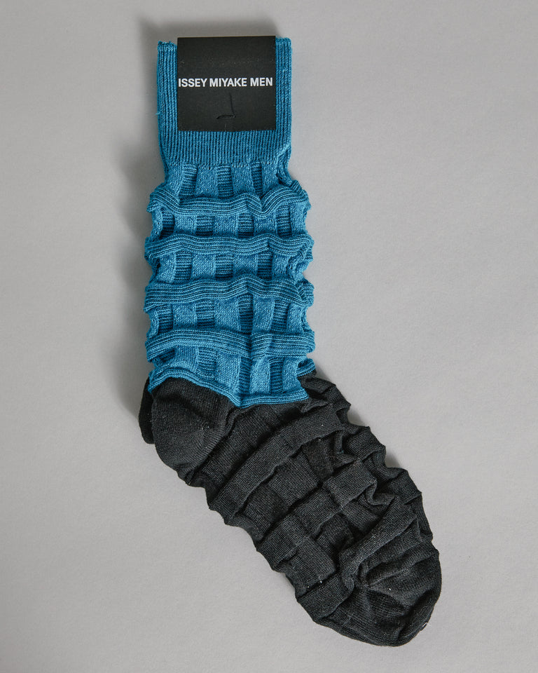 Two Tone Socks in Blue