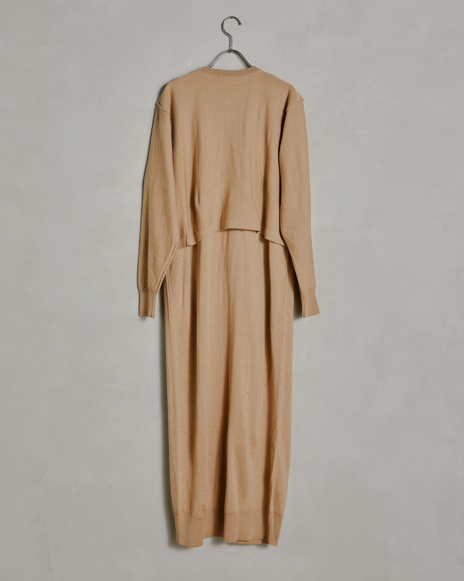 Cardigan Dress in Light Beige