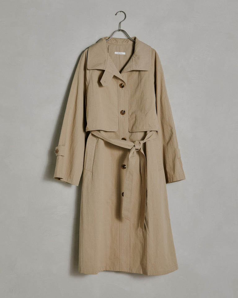 Anais Trench in Beige
