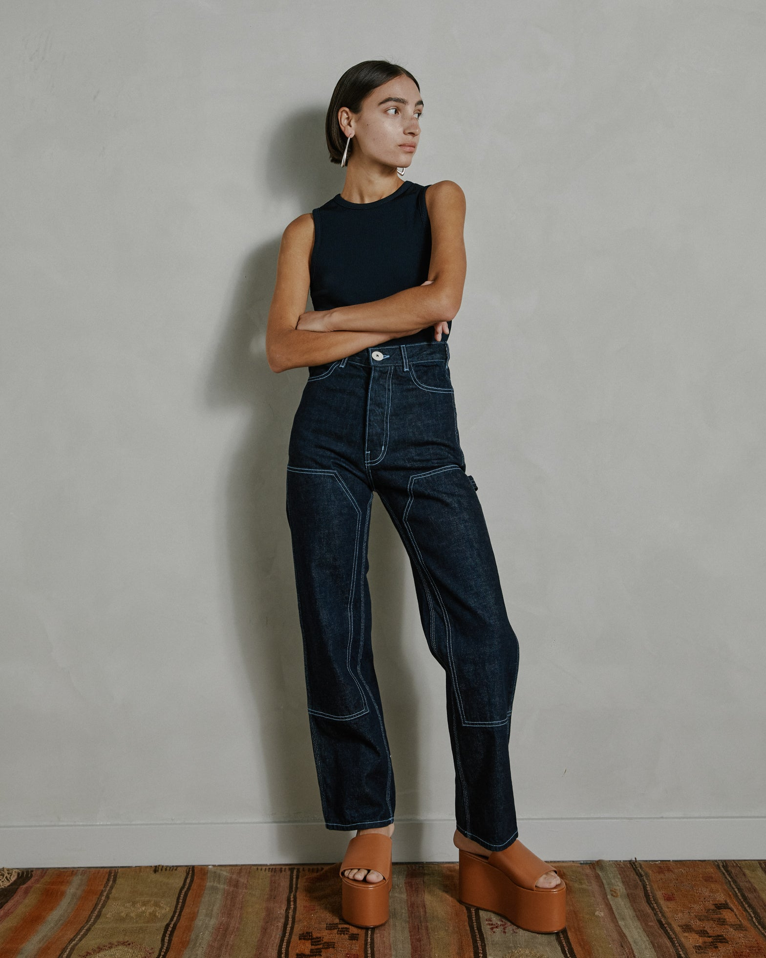 Patchfront Handy Pant in Dark Blue