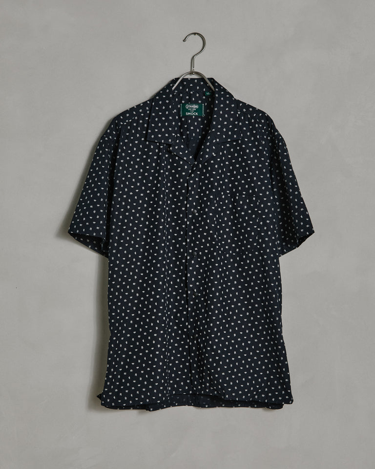 Kokki Camp Shirt in Navy