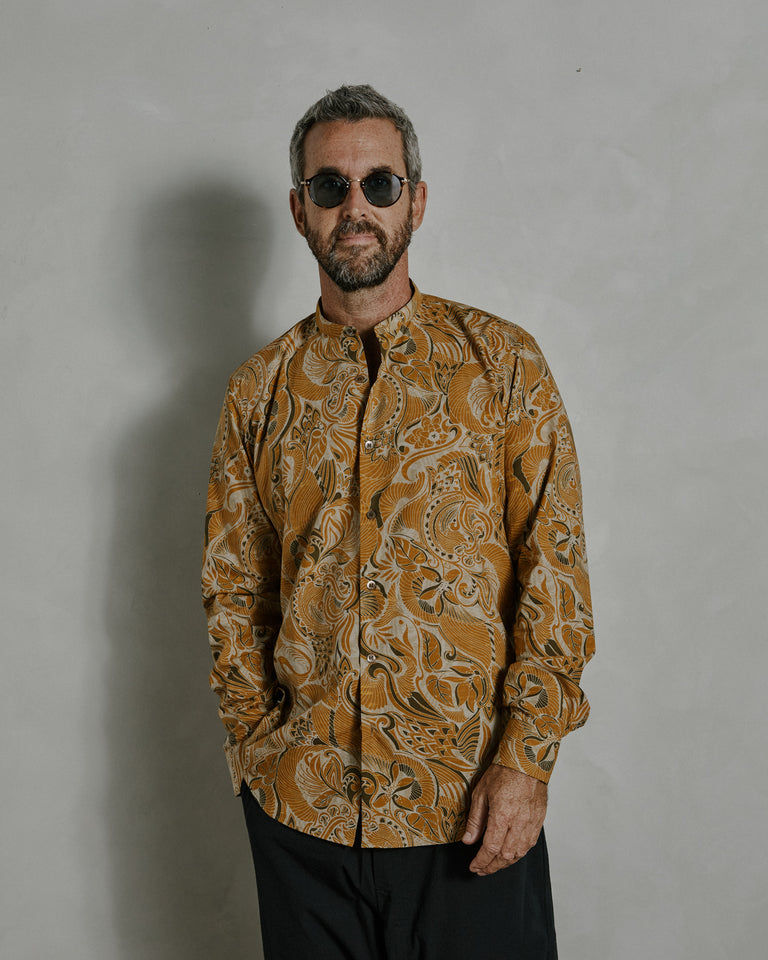Claver 1001 M.W. Shirt in Cognac