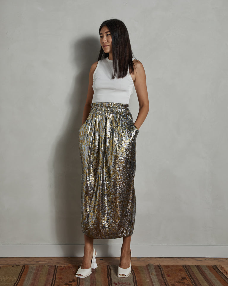 Sofya 1347 W. W. Skirt in Silver