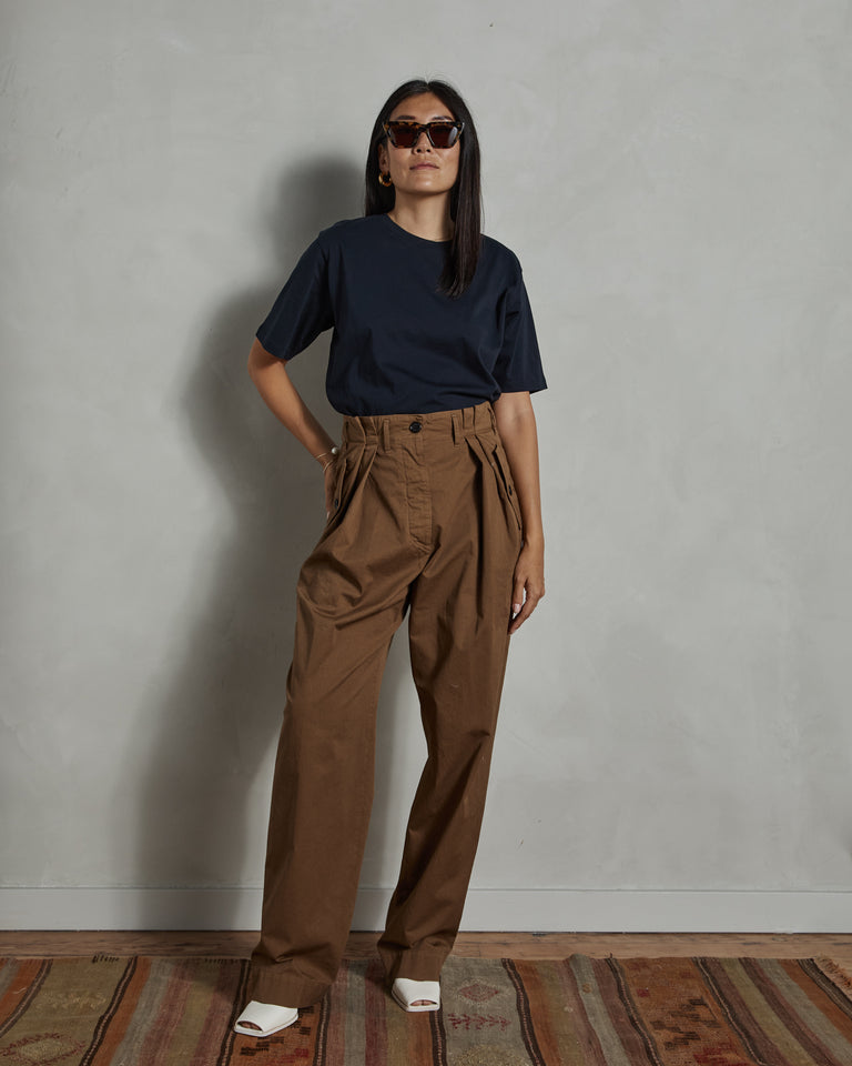 Poska 1283 W. W. Pants in Stone