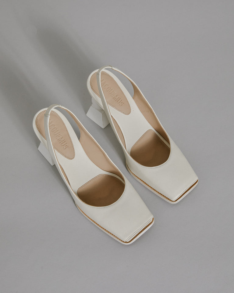 Les Chaussures Valerie in White