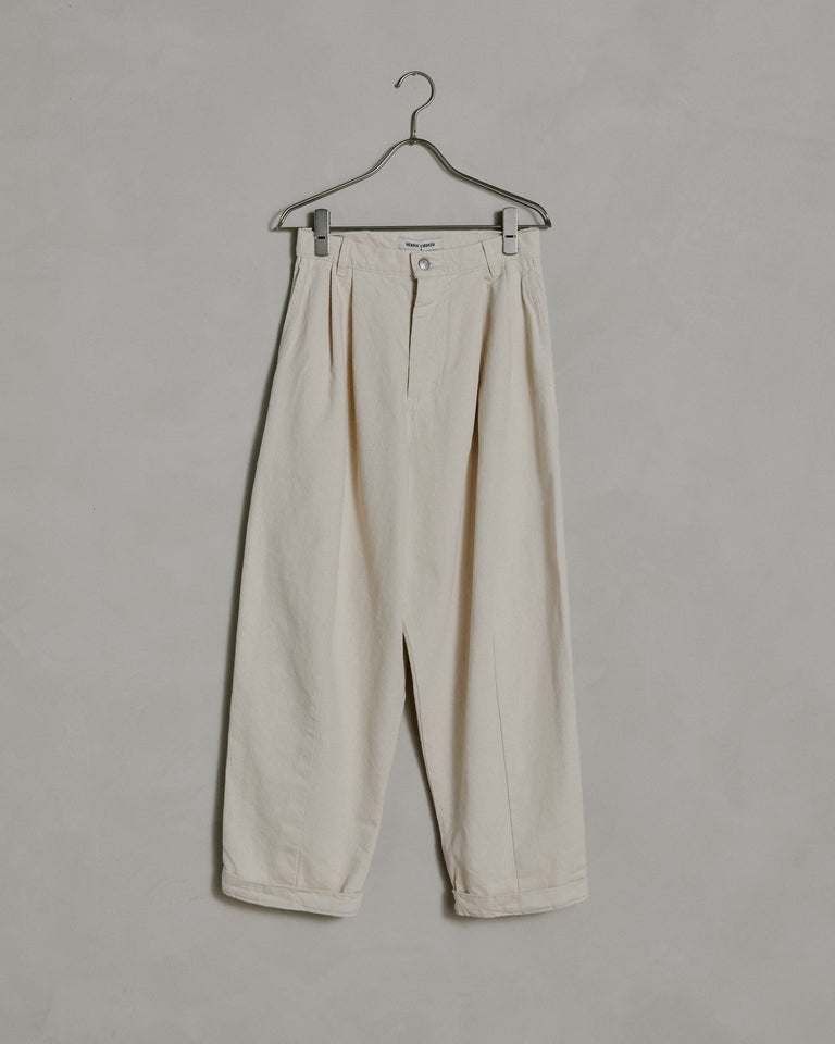 Letter Pants in Ecru