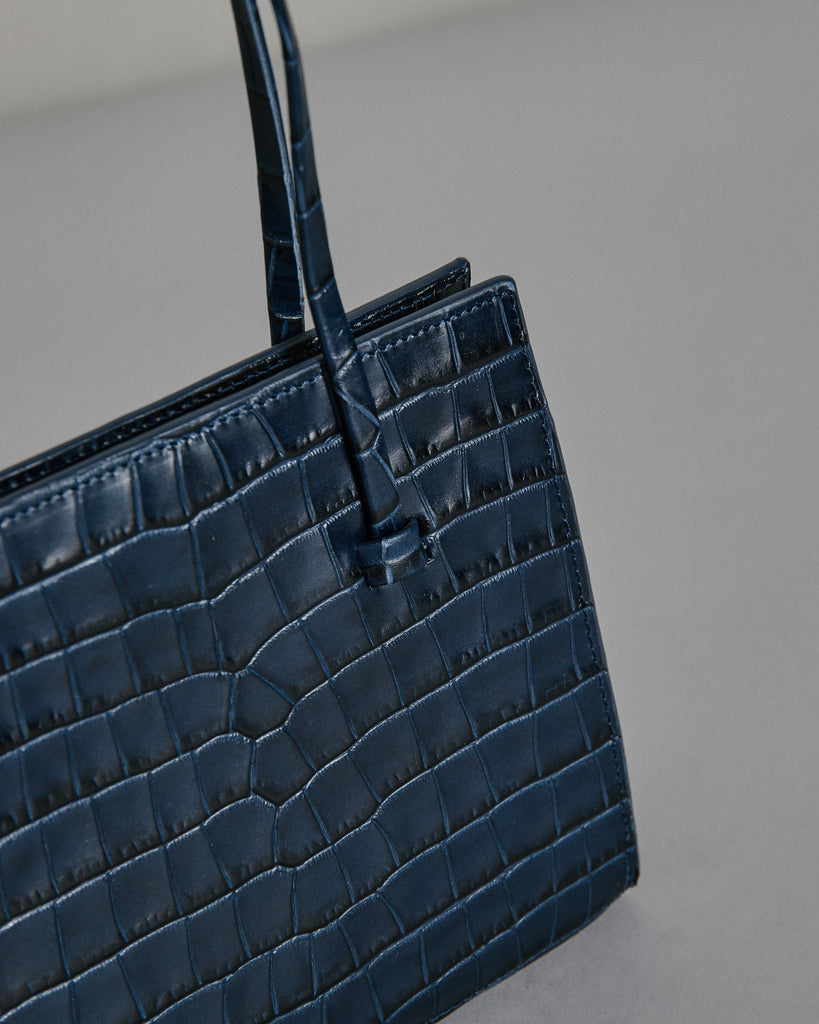Anika Purse in Navy Croc