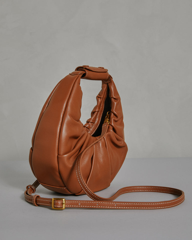 Soft Moon Bag in Tan