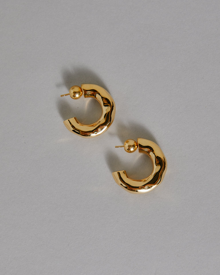 Small Giacometti Hoops in 18K Gold Vermeil
