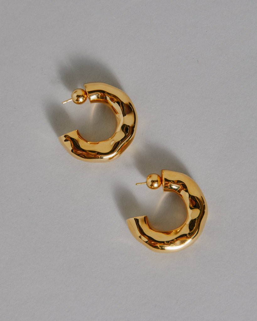 Large Giacometti Hoops in 18k Gold Vermeil