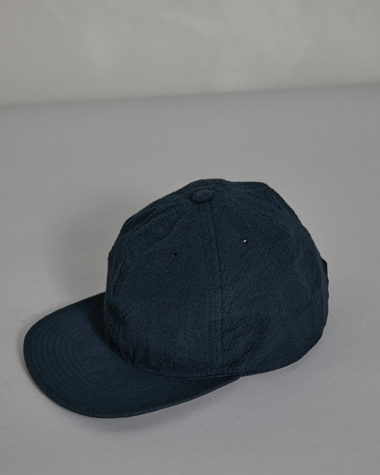 Seersucker Cap in Navy