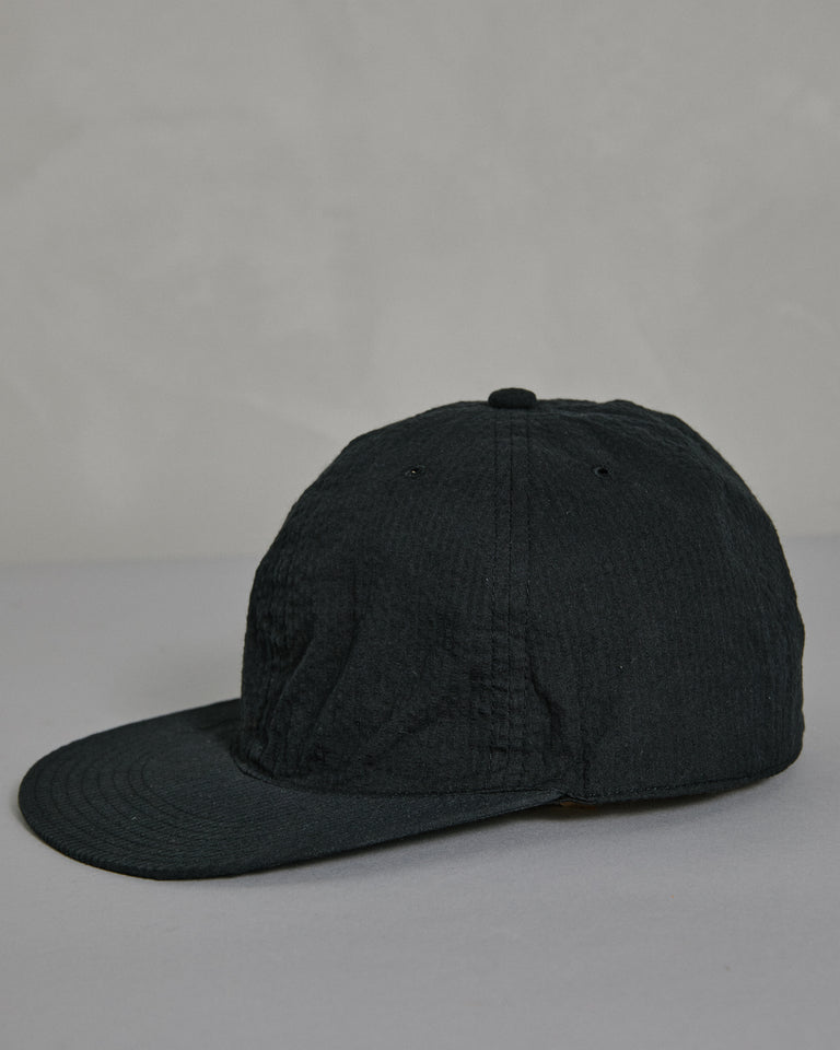 Seersucker Cap in Black