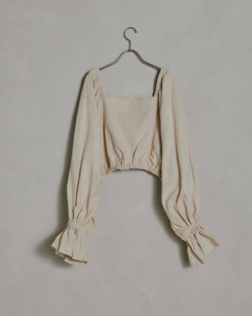 Selena Top in Natural Linen