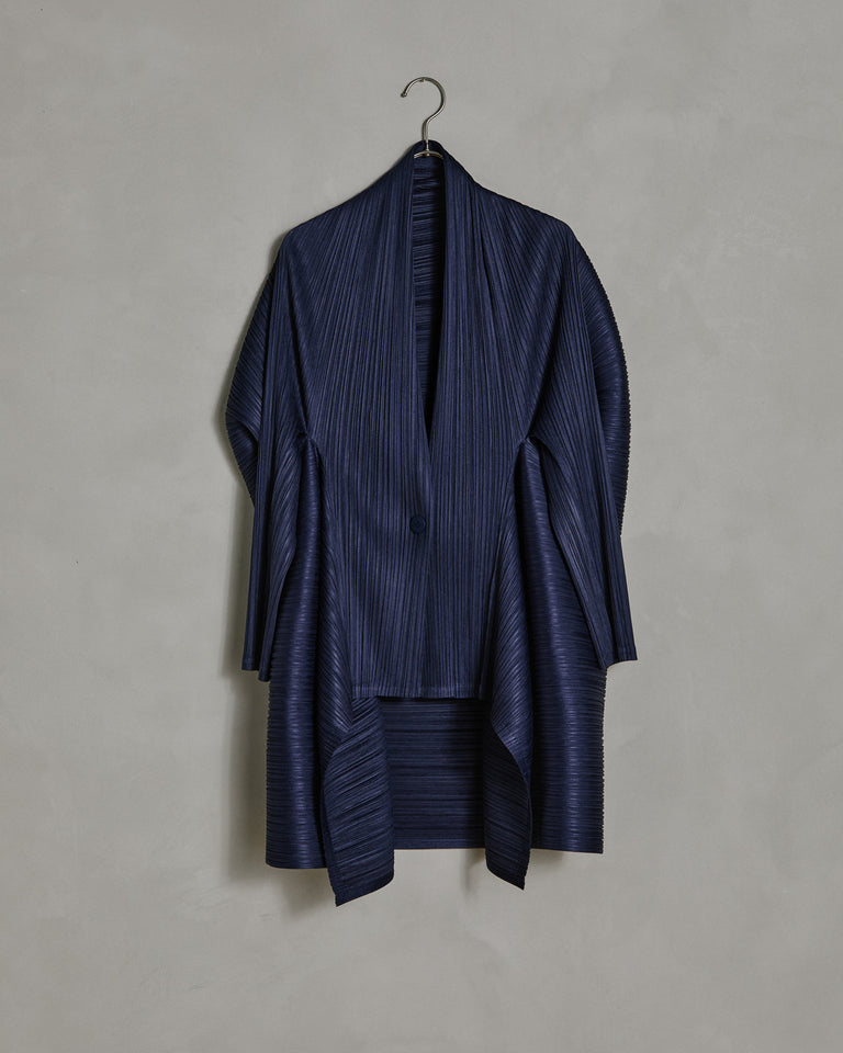 Com Moto Cardigan in Navy