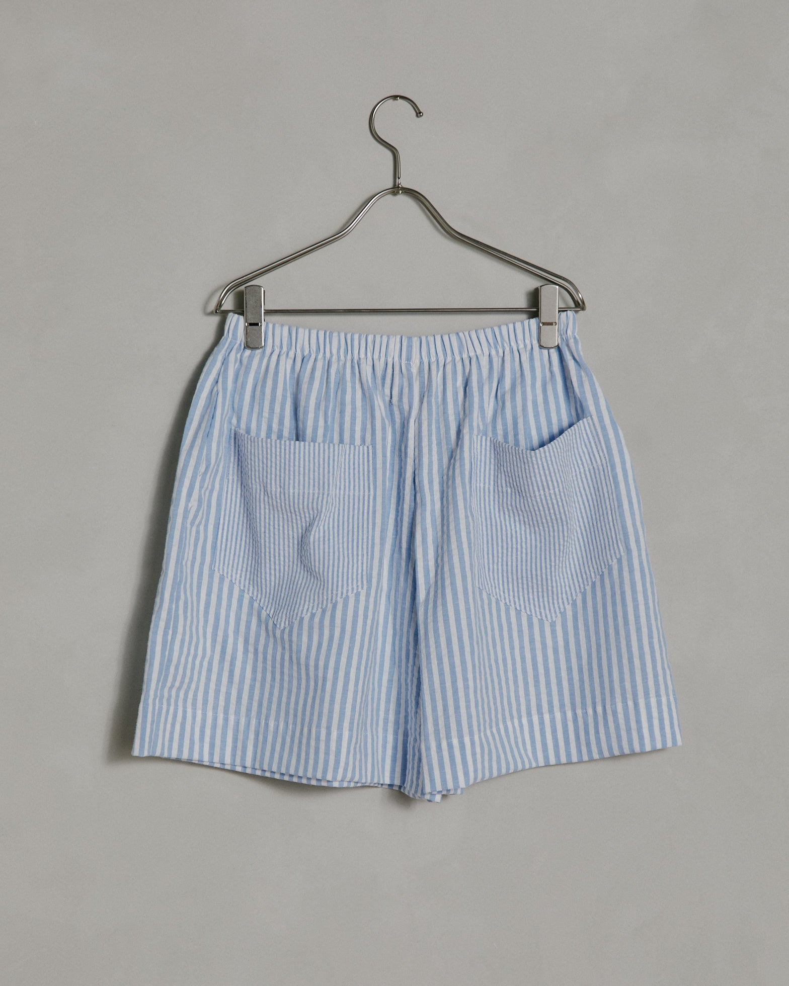 Christine Shorts in Seersucker Blue