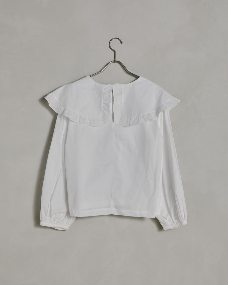 Faithe Top in White Crinkle Cotton