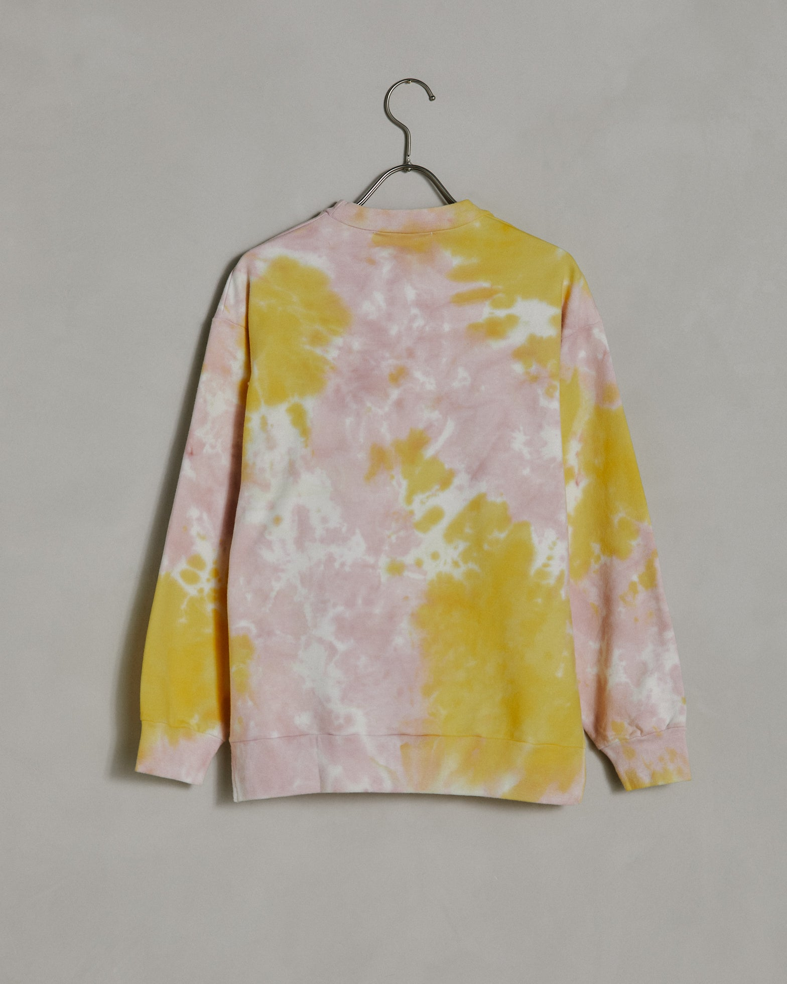 Calais Sweatshirt in Yellow Pink Tie-Dye