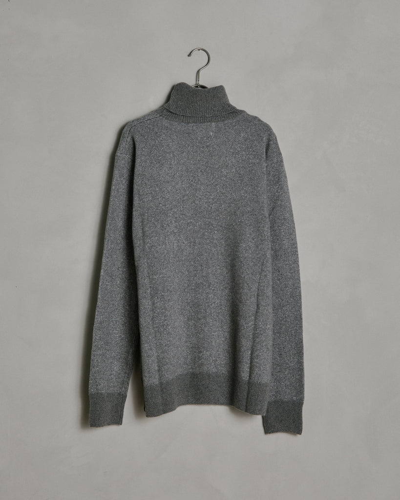 Cotton/Cashmere Turtleneck in Grey