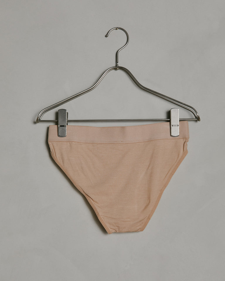 Elastic Bell Pants in Nude