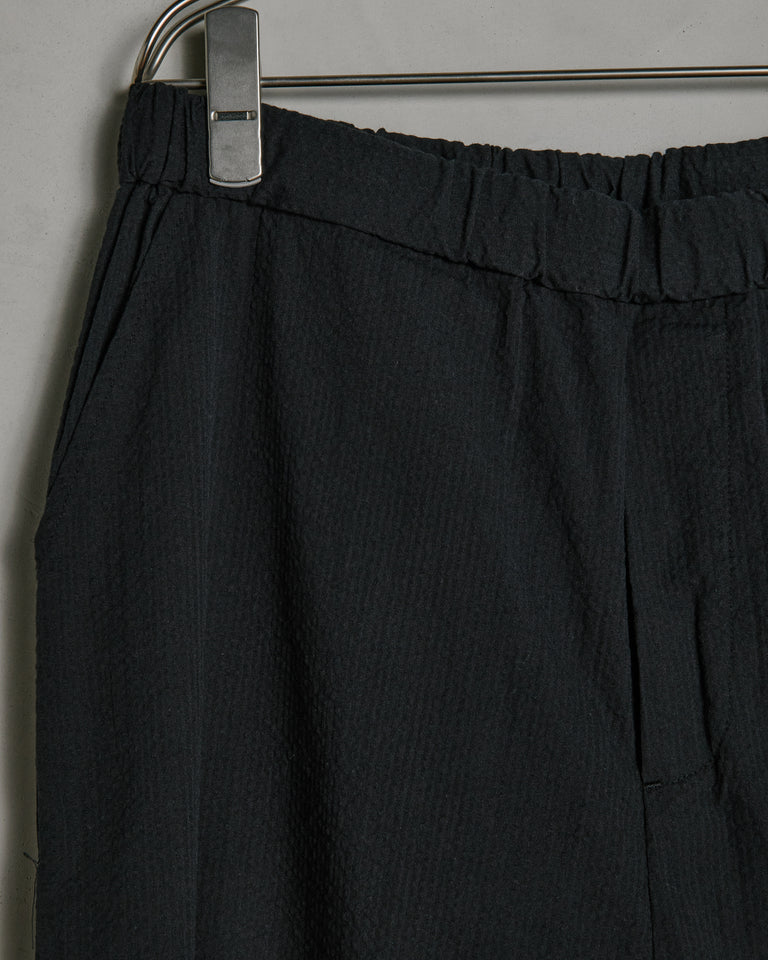 Seersucker Yoyogi Pant in Black