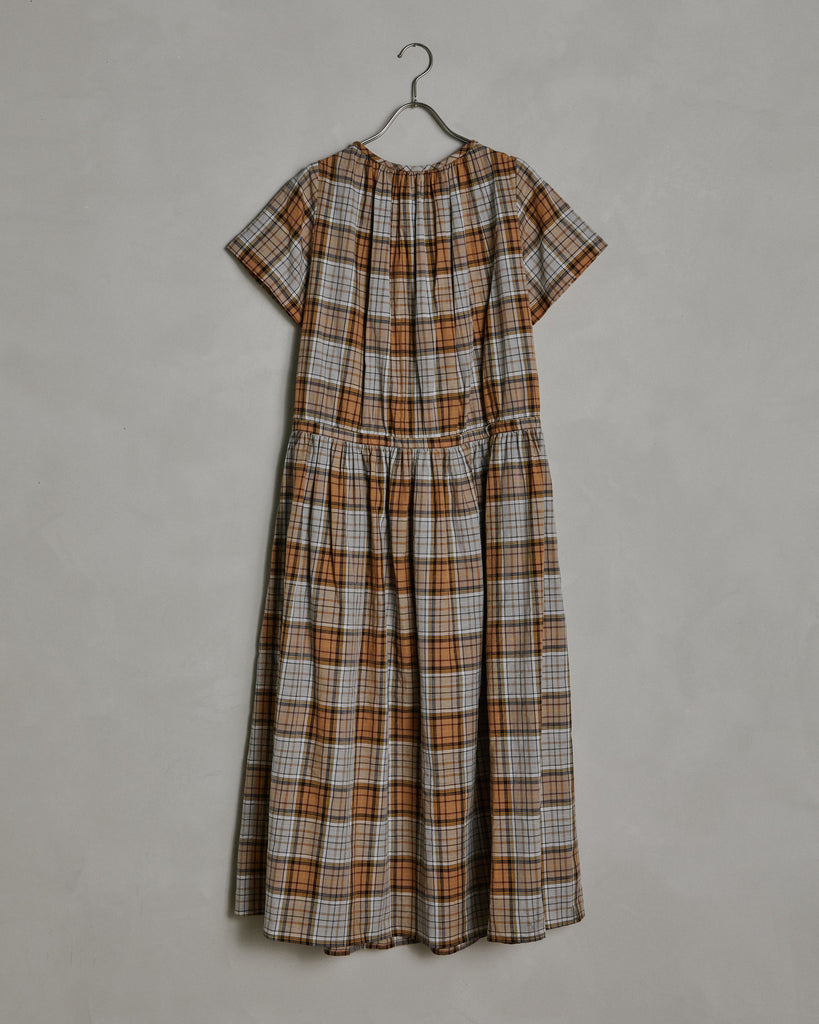 Agatha Shirtdress in Brown Plaid