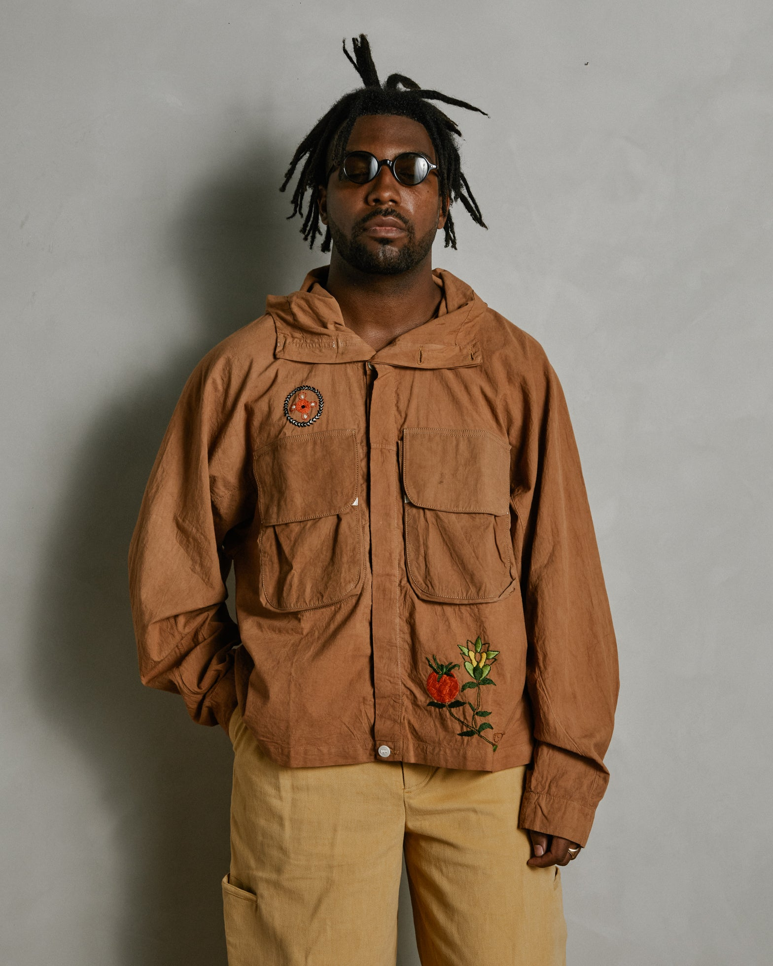 Forager Jacket in Bark Brown OD