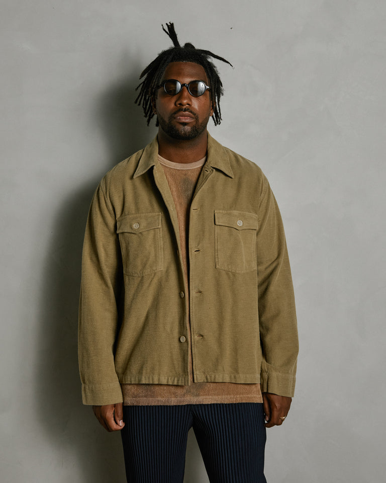 Evening Coach Jacket in Khaki