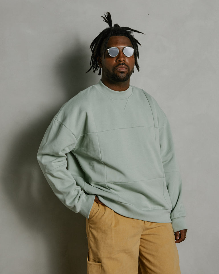 Le Sweat Carro in Light Green