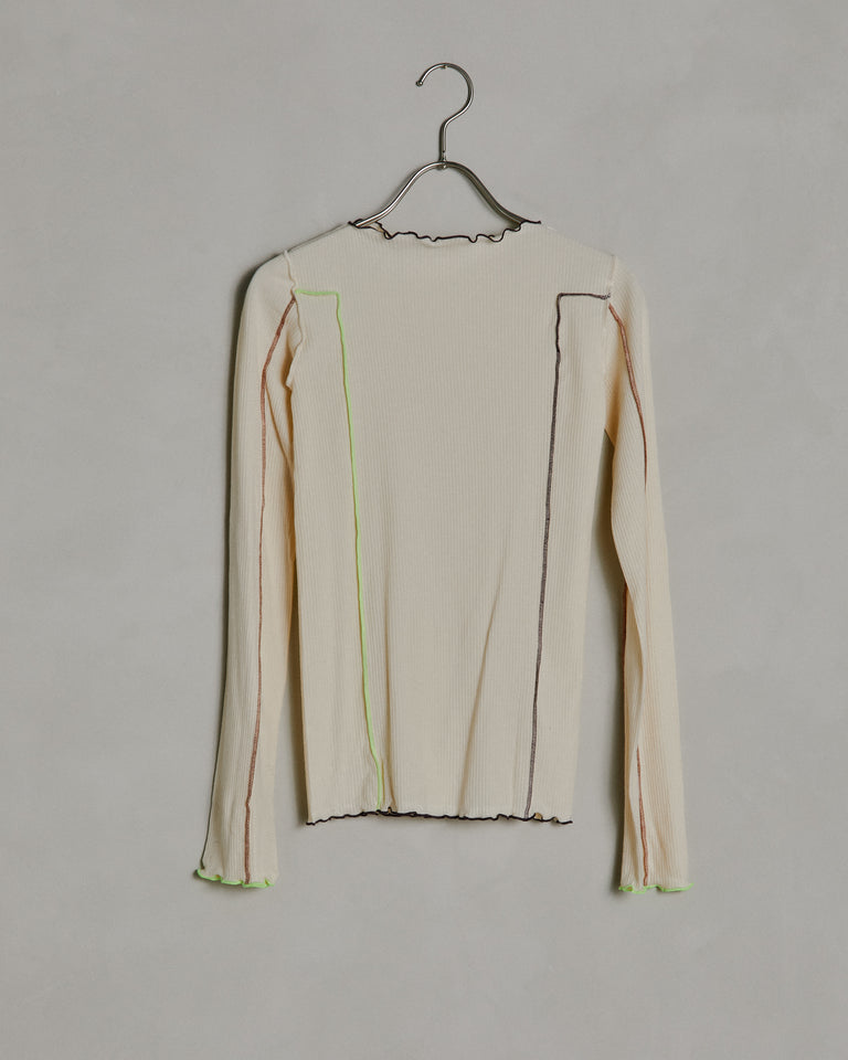 Omato Long Sleeve in Off White Contrast