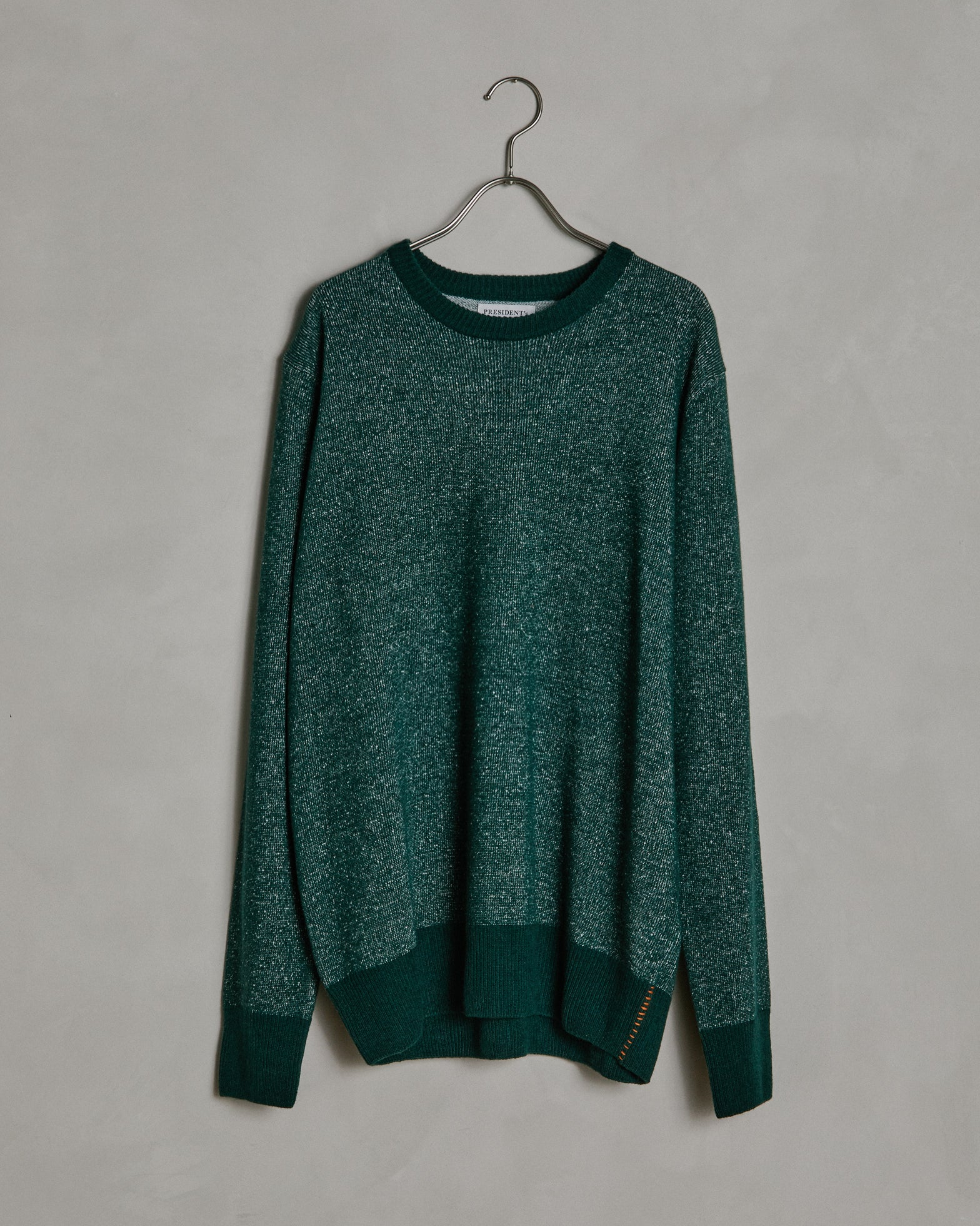 Cotton/Cashmere Crew Neck in Bottle