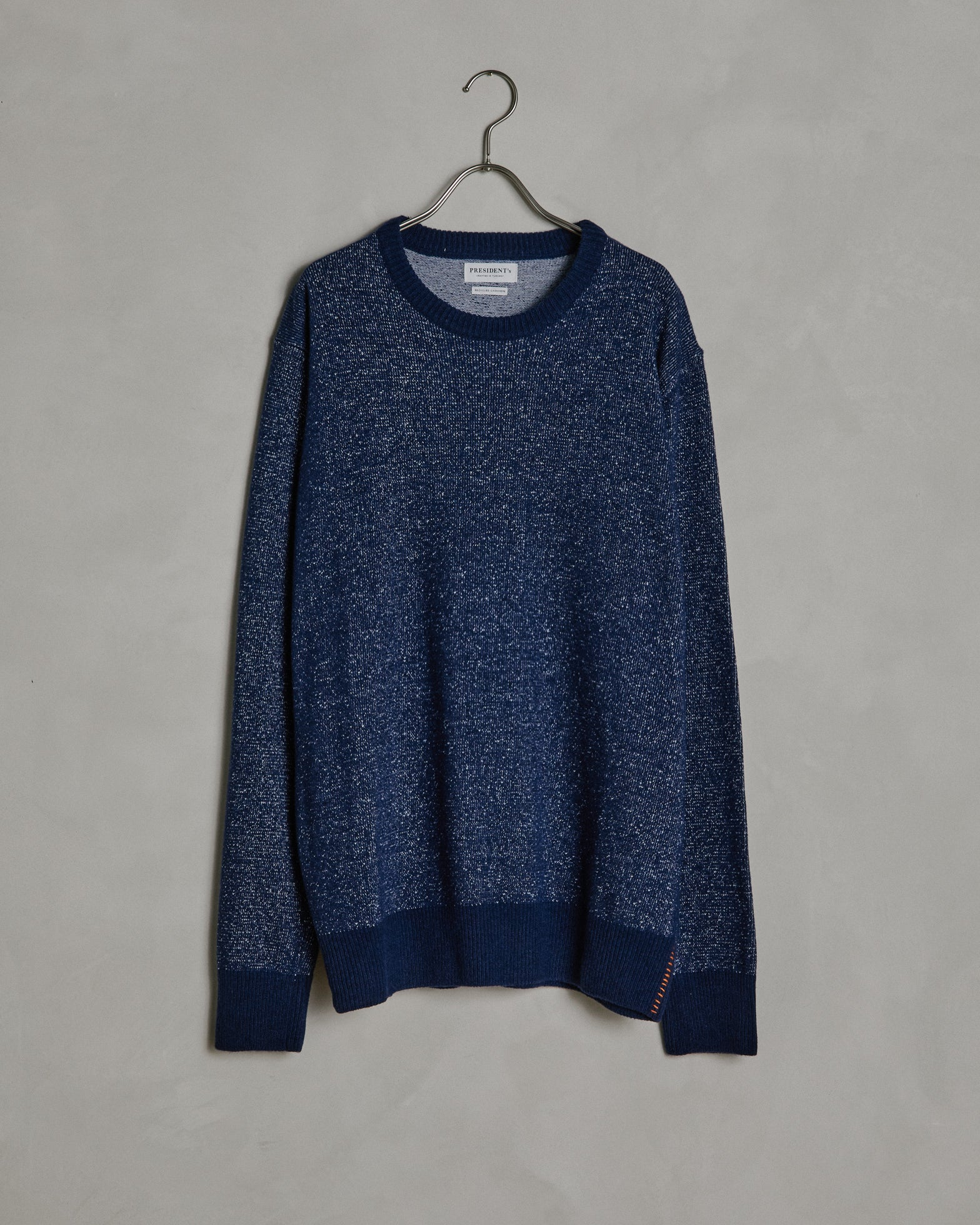 Cotton/Cashmere Crew Neck in Navy