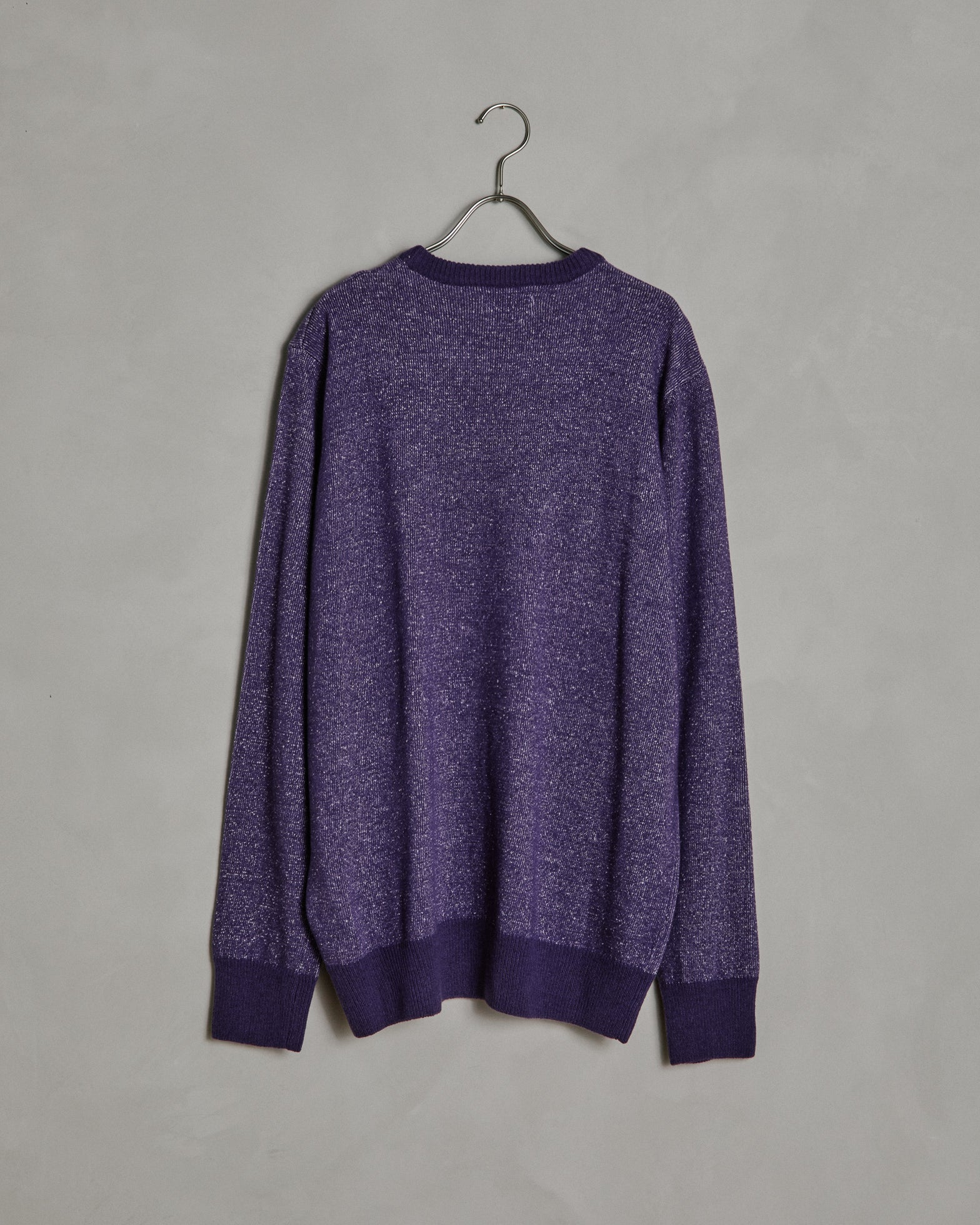 Cotton/Cashmere Crew Neck in Purple