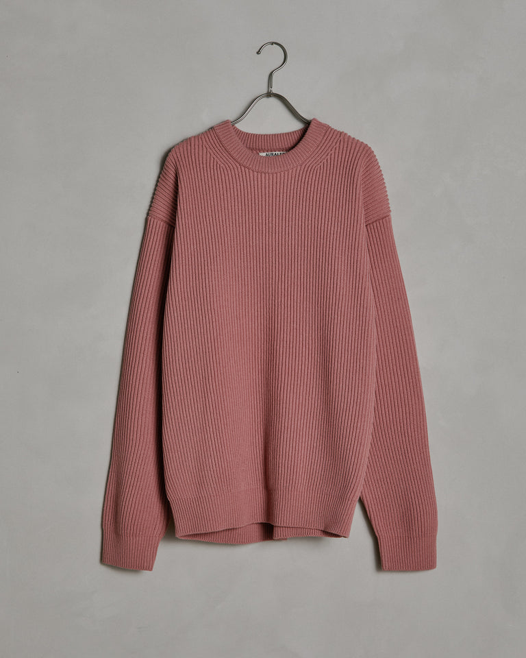 Super Fine Rib Knit Big in Pink